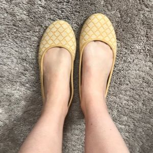 Yellow ballet flats size 10 by LifeStride
